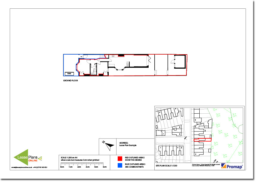 Land Registry Compliant Residential Lease Plan Example